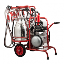 Mobile machine (double milking, double bucket)